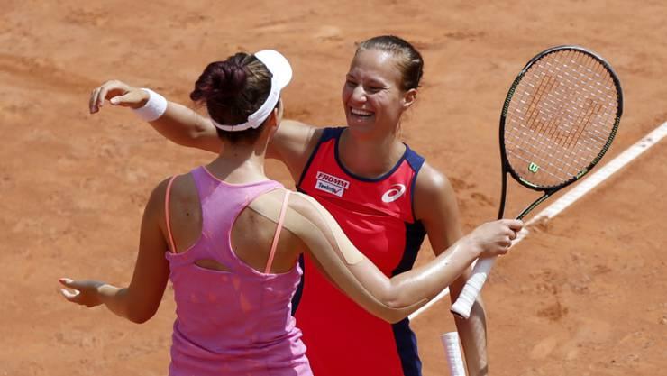 Doch noch ein Schweizer Erfolgserlebnis - Viktorija Golubic mit Nina Stojanovic (SRB) im Doppel-Final