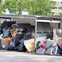 Ausnahmezustand: Unmittelbar vor der Einführung der Sackgebühr türmten sich in Spreitenbach die Müllberge.