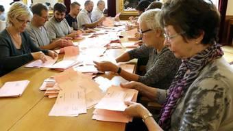 Auszählung der Stimmen in Pruntrut nach der Wahl (Archiv)