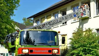 Übung der Feuerwehr Engstringen