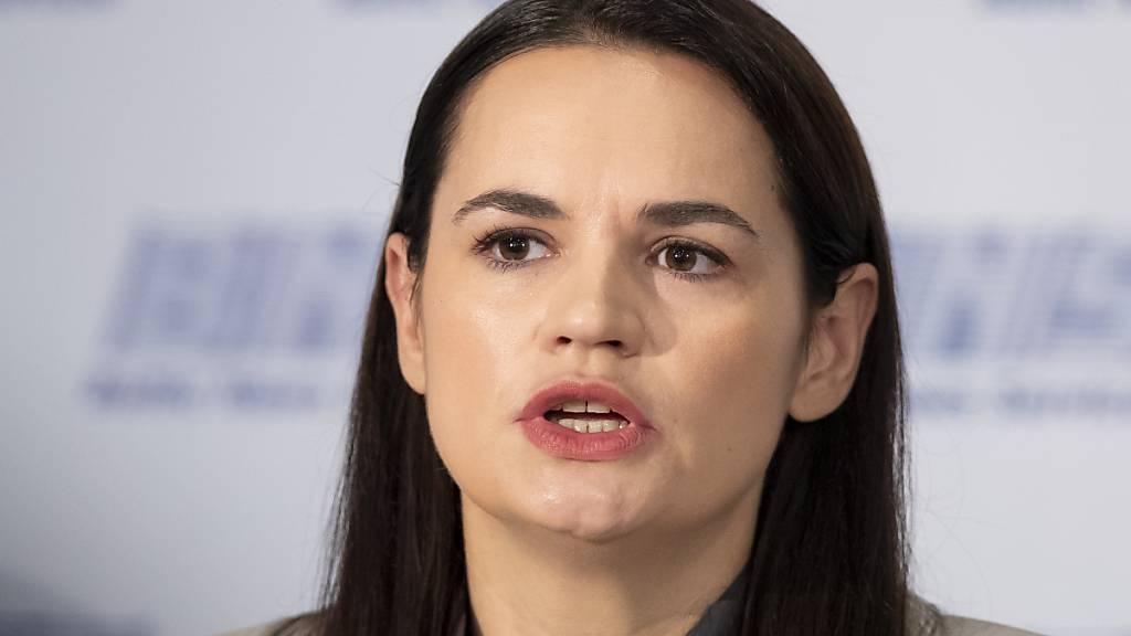 Die weissrussische Oppositionsführerin Swetlana Tichanowskaja weilt derzeit in der Schweiz.