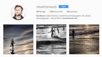 Eines der Instagramprofile von Dan Roznov. Der Reisefotograf, Influencer und blogger sagt:«Im Jahr 2017 ist jeder ein Fotograf.»
