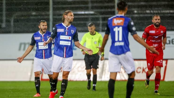 Der FC Aarau hat nach zwei Partien bereits acht Gegentreffer auf dem Konto.