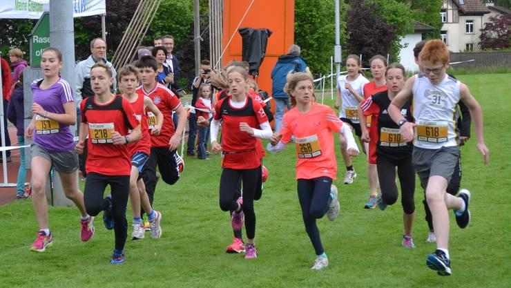 Start der Jugend am 26. Homberglauf.