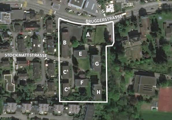 Der Gestaltungsplan «Im Ifang» wurde in den letzten Jahren überarbeitet und um vier Parzellen einer Erbengemeinschaft mit den Wohnhäusern (E–H) erweitert. Die Gesamtfläche ist nun doppelt so gross. screenshot/MTA
