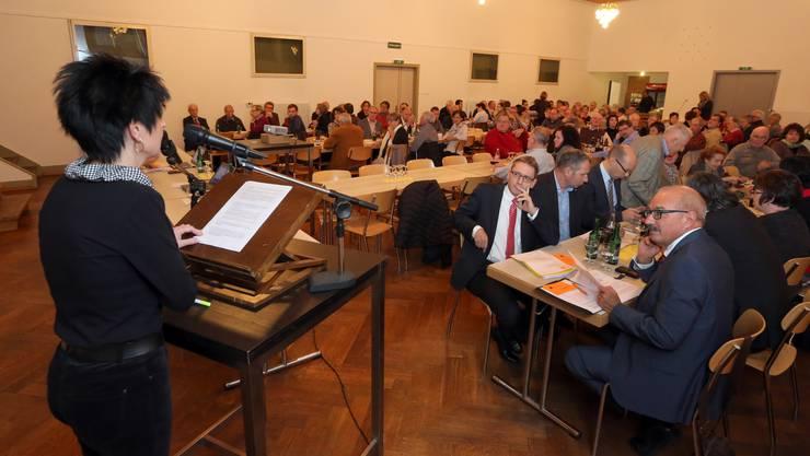 Parteipräsidentin Sandra Kolly bedauerte vor den Solothurner CVP-Delegierten, dass es zu keiner Union zwischen CVP und BDP kommt.