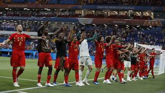 Belgien steht dank einem Tor wenige Sekunden vor Schluss im Viertelfinal.