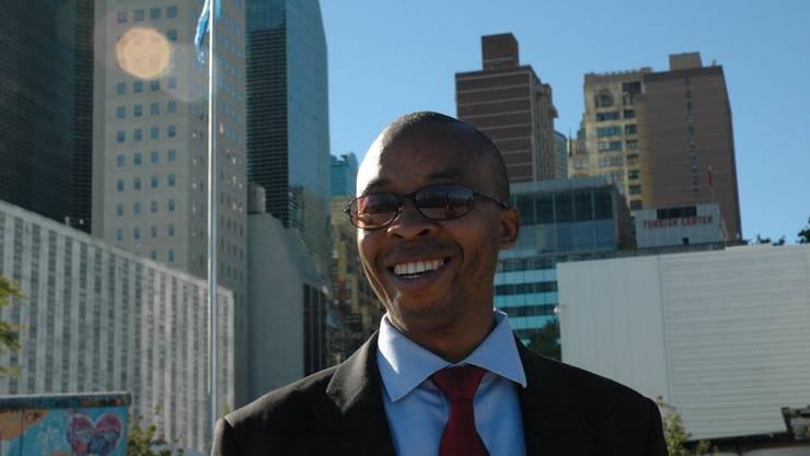 2013 warb Wanyoike bei der UNO in New York für seine Anliegen.