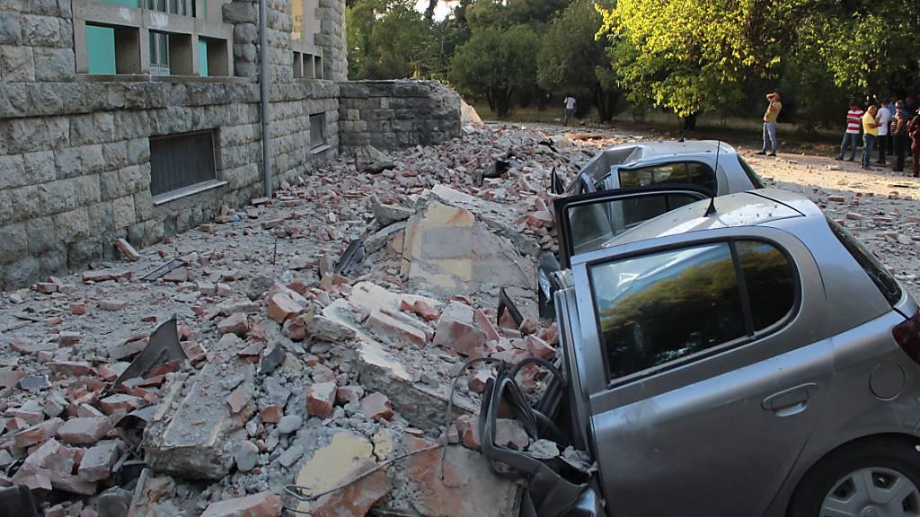 Dutzende Verletzte bei Erdbebenserie in Albanien