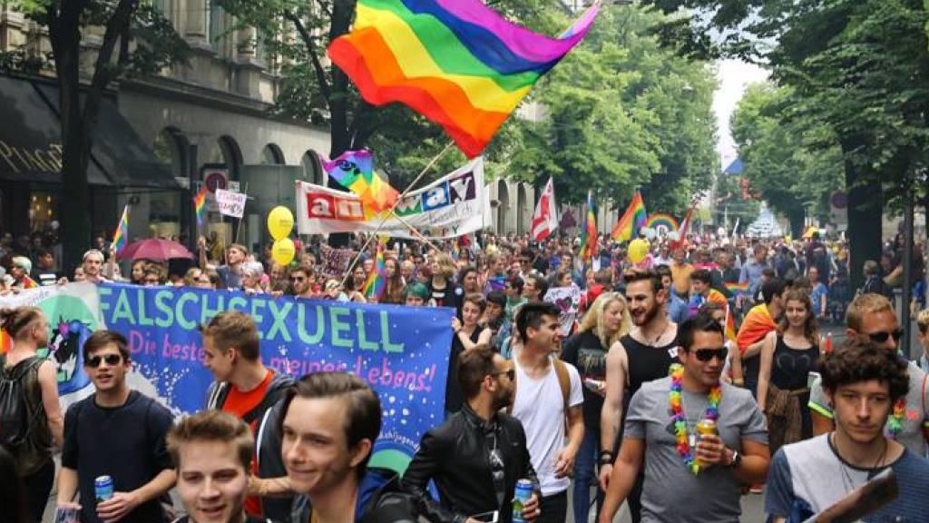 Rund 9000 Personen sind am Samstagnachmittag mit dem Pride-Umzug durch die Zürcher Innenstadt gezogen.