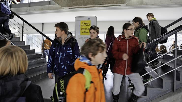 Am Dienstag stellen sich Tausende Schüler der Gymiprüfung – im Bild die Kanti Rychenberg.