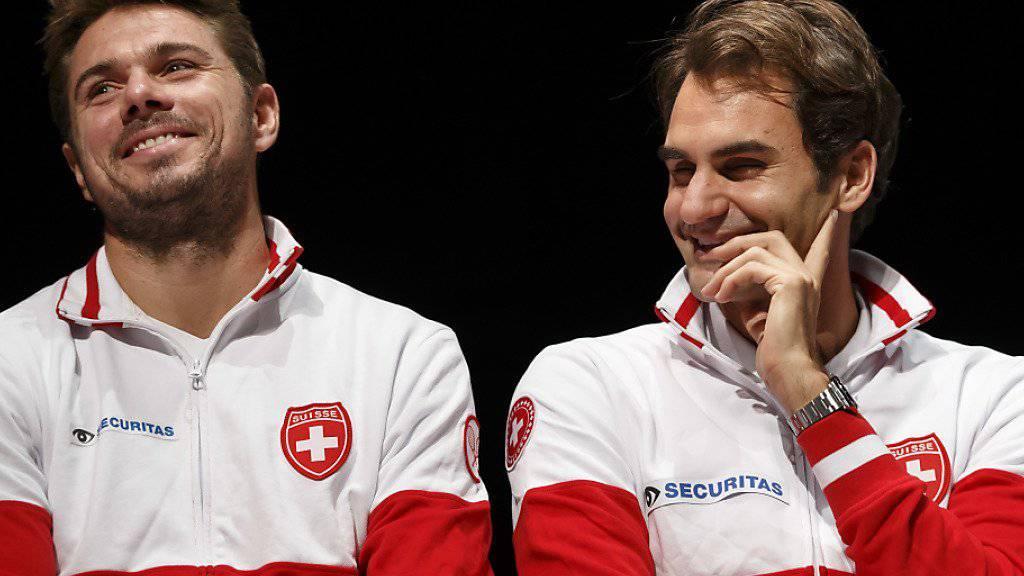 Stan Wawrinka und Roger Federer sind guter Dinge