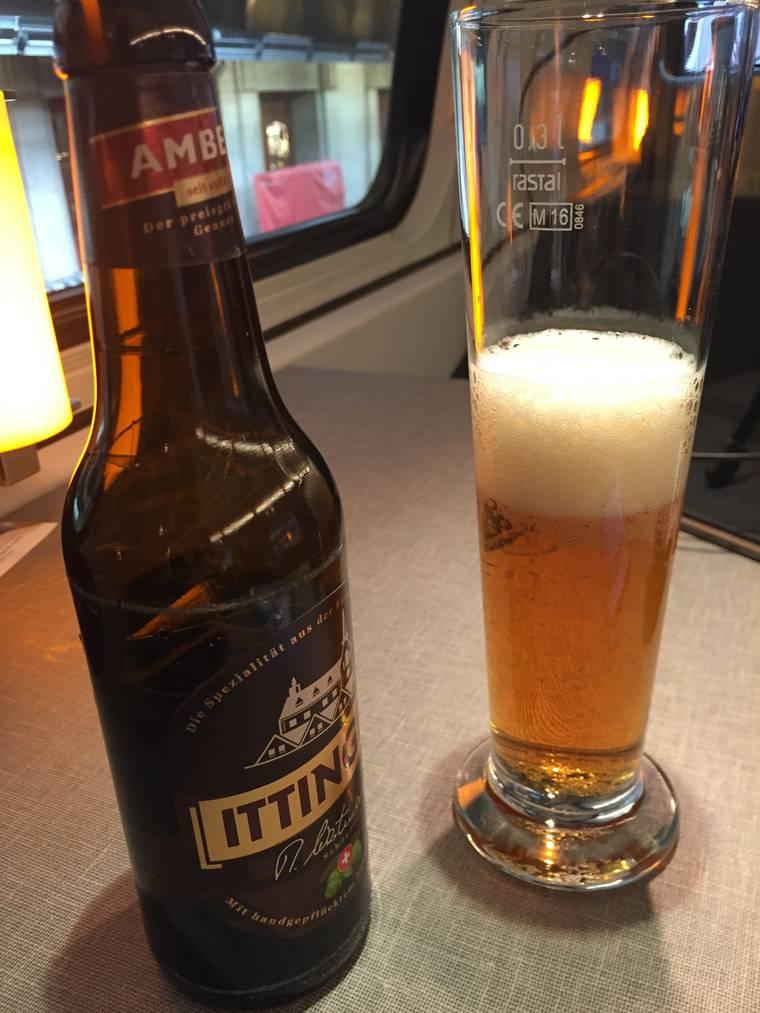 Das Bier im neuen Speisewagen kommt aus dem Thurgau. © FM1Today