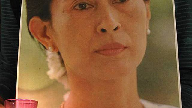 Portrait der Oppositionsführerin Aung San Suu Kyi (Archiv)
