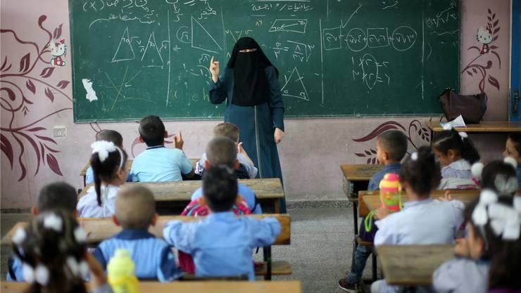 Mathematik-Unterricht im Gaza-Streifen: Dank UNO erhalten Kinder trotz Konflikt eine gute Bildung.