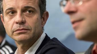Präsident Bernhard Heusler (links) und Sportdirektor Georg Heitz geben die FCB-Führung ab.