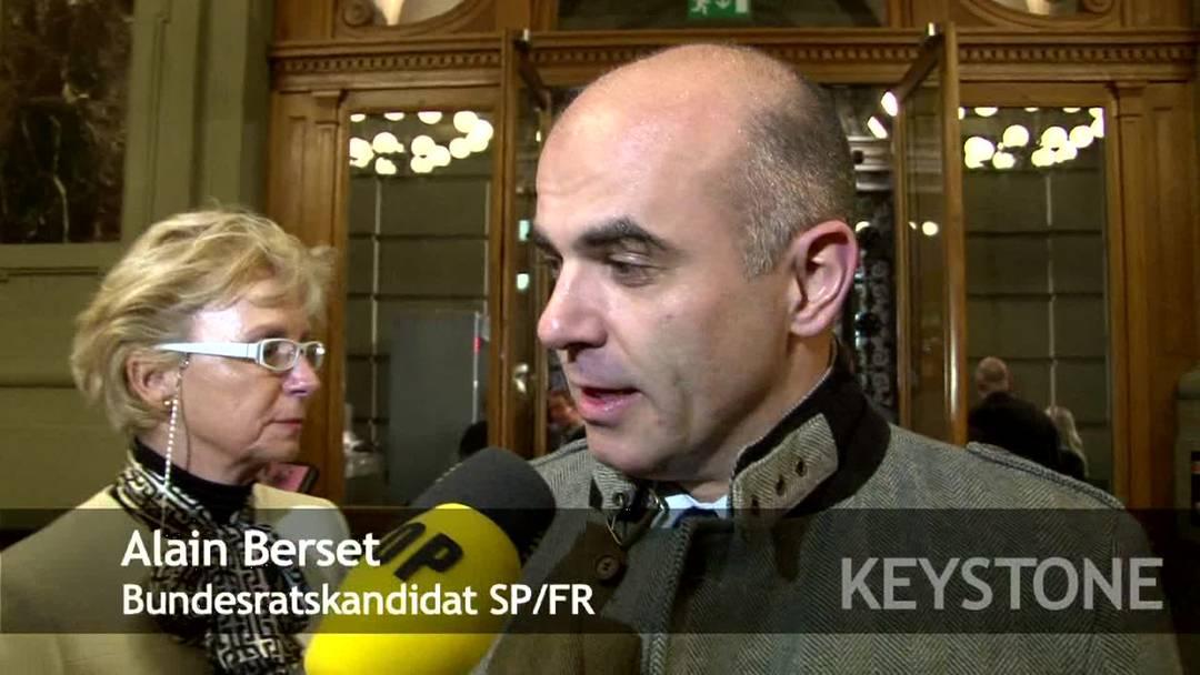 Alain Berset will seine Chancen, Bundesrat zu werden, nicht einschätzen