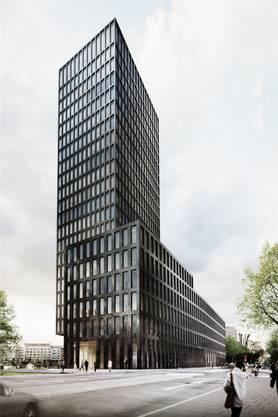 Der Grosspeter-Tower soll im Endausbau 78 Meter hoch werden und 22 Stockwerke haben. Im Sockel befindet sich das Ibis-Hotel mit 186 Zimmern.