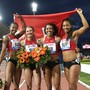 Die Schweizer Staffel-Frauen stehen in Berlin im Final
