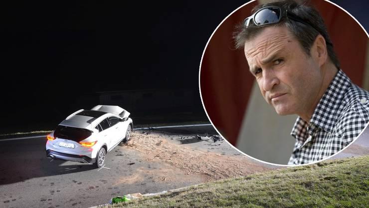 René Rindlisbacher verlor in einer Rechtskurve die Kontrolle über sein Auto.
