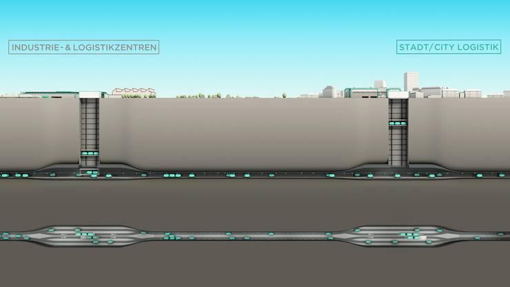 So soll das Projekt von Cargo Sous Terrain funktionieren.