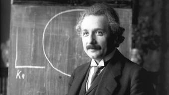 Albert Einstein auf der Höhe seines Ruhms.