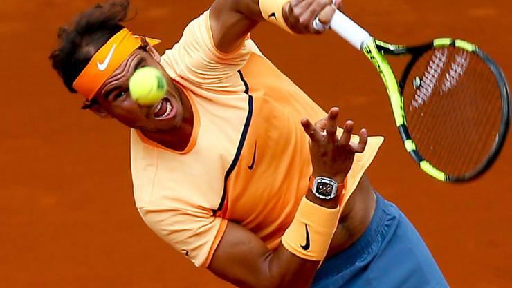 Hart gekämpft und am Ende gewonnen: Rafael Nadal in Madrid