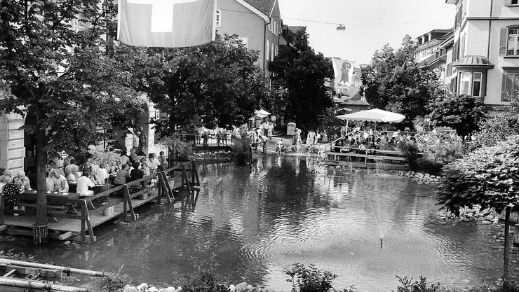 Publikumsmagnet: Der See von 1993 könnte wieder Realität werden. Archiv LT