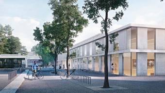 Allzu sportliche Ziele: 2020 hätte der neue Sport-Campus auf dem St.Jakob-Areal eröffnet werden sollen. Dieses Ziel wird mit Sicherheit verpasst. Visualisierung ZVG