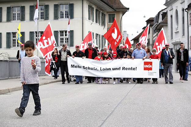 Rund 350 nahmen am Solidaritätsumzug durch Vor- und Altstadt teil.