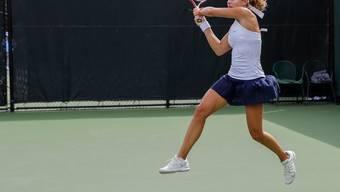 Stefanie Vögele zwei Tage vor ihrem 29. Geburtstag in Indian Wells zumindest kurzfristig auf Höhenflug: 6:3, 6:0-Sieg gegen die Nummer 4 der Welt Sloane Stephens