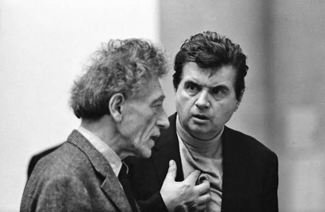 Alberto Giacometti (links) und Francis Bacon 1965.
