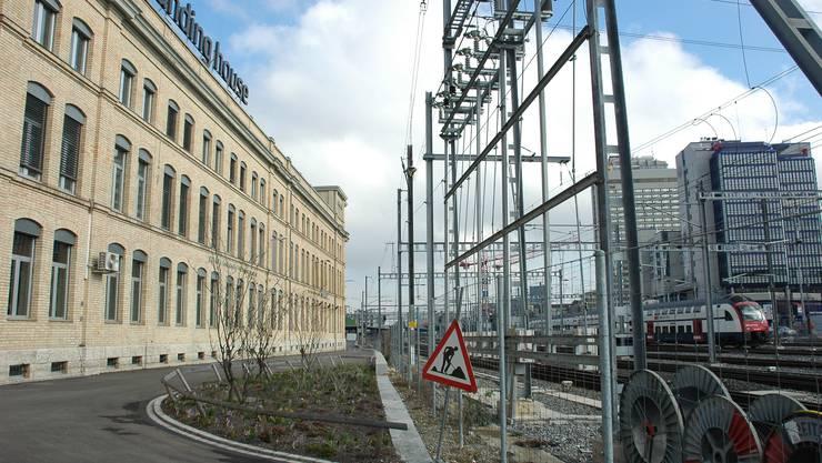 MFO-Direktionsgebäude: Für ein neues Bahngleis verschoben.