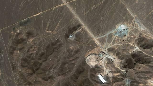 Eine mögliche Anreicherungsanlage in den Ghom-Bergen im Iran (Archiv)
