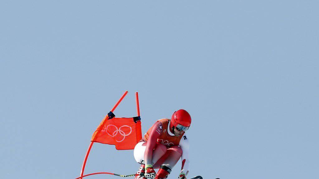 Mauro Caviezel kommt mit den Begebenheiten auf der Olympia-Strecke von Jeongseon gut zurecht