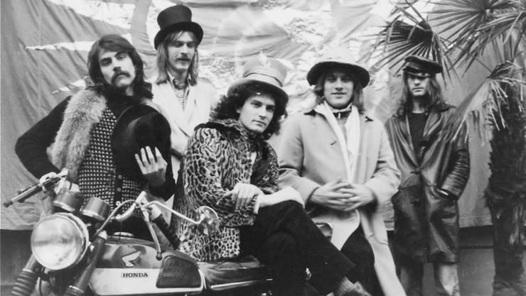 Span vor 40 Jahren: Christoph Kohli, Schöre Müller, Dänu Siegrist, Matthias Kohli und Housi Wittlin.