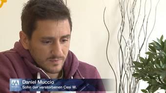 Urs W. brachte zuerst seine Frau, dann sich selbst um. Daniel Muccio verlor beim Tötungsdelikt in Trimbach seine Mutter Cesi W. Er ist fassungslos.