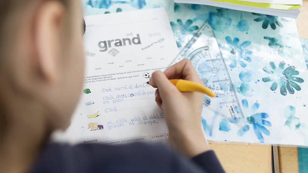 Zürcher Schülerinnen und Schüler sollen weiterhin auf der Primarstufe sowohl Englisch als auch Französisch lernen. (Archivbild)