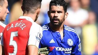Chelseas Diego Costa provoziert Arsenals Gabriel