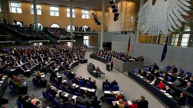 Blick in den deutschen Bundestag