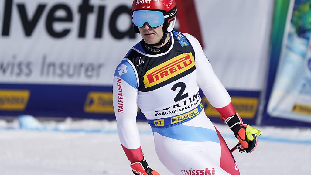 Loïc Meillard ist in Cortina auch am Tag nach dem Gewinn von Kombi-Bronze sehr schnell unterwegs: In der Qualifikation des WM-Parallelrennens war der Romand der Schnellste
