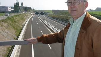 Lebenswerk: Jean Thiry und «seine» Autobahn, die ihn 35 Jahre lang beschäftigte. Werner Schneiter