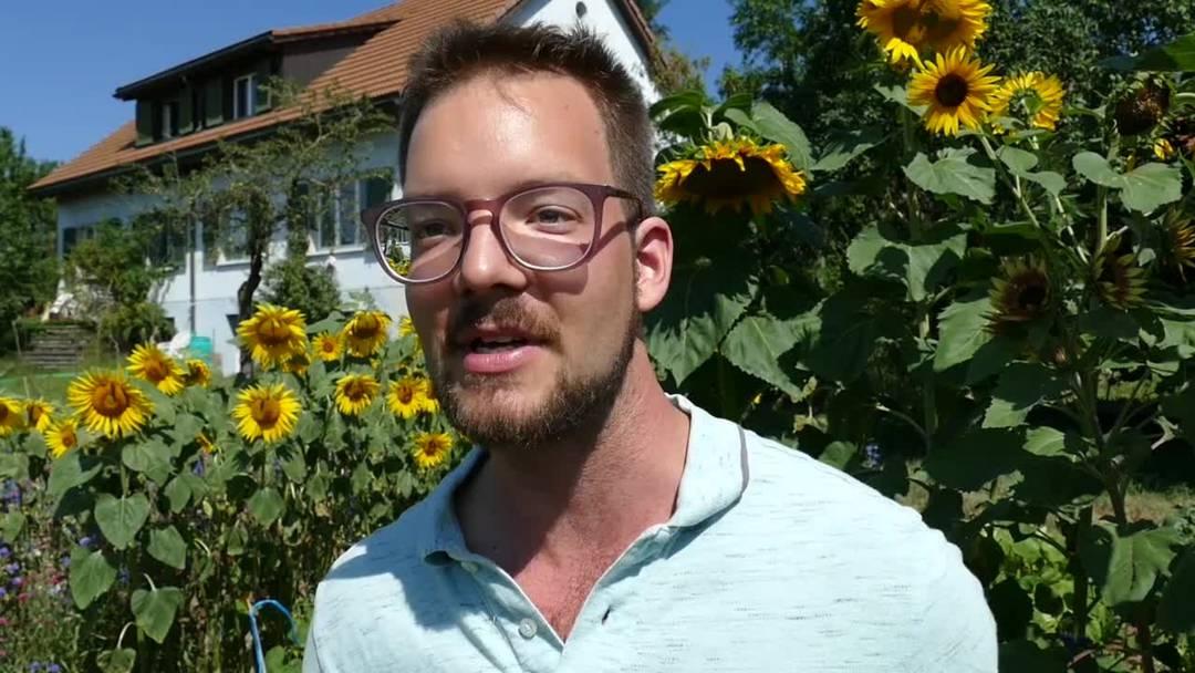 Urs Riggenbach erklärt, wie die Solarsauna funktioniert – und wo die Technologie sonst noch eingesetzt wird