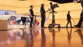 Das Interview mit Roger Federer fand nicht im Sportpanorama-Studio statt (hier im Bild), sondern im Studio einer Schuhmarke. Dabei kam es nach Ansicht der SRG-Ombudsstelle zu Schleichwerbung.