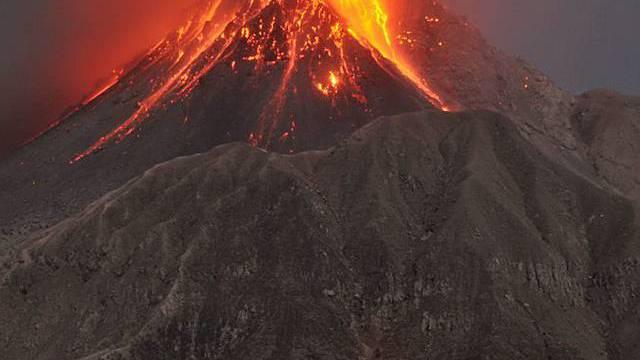 Ausbruch des Vulkans Soufrière Hills auf Montserrat Ende Januar
