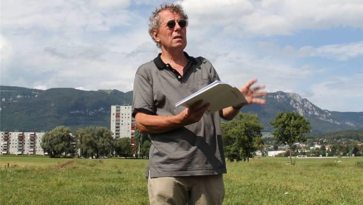 Benedikt Loderer und die «Wasserstadt»: «Wir stehen hier auf einer Insel. Unter uns der ‹Ghüder› von Solothurn.»Christoph Neuenschwander