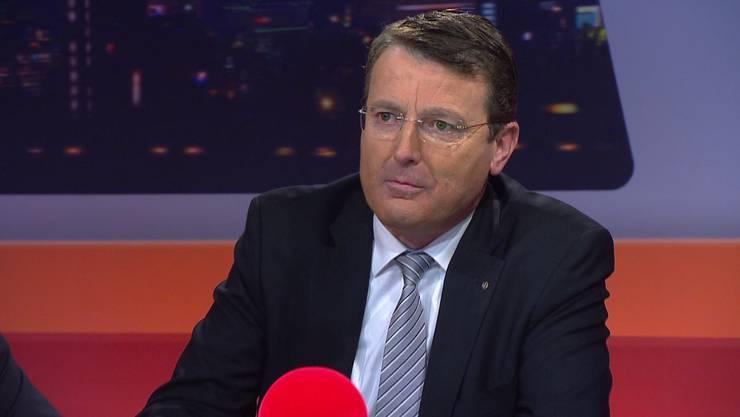SVP-Präsident Thomas Burgherr denkt laut über eine neue Ämterverteilung im Regierungsrat nach.