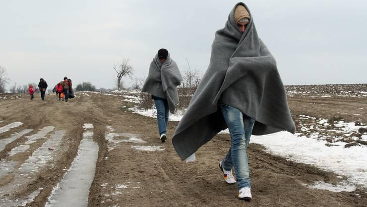 Trotz dem Winter machen sich immer noch Tausende Menschen aus Syrien, Irak oder Afghanistan via Balkan auf den Weg nach Europa.