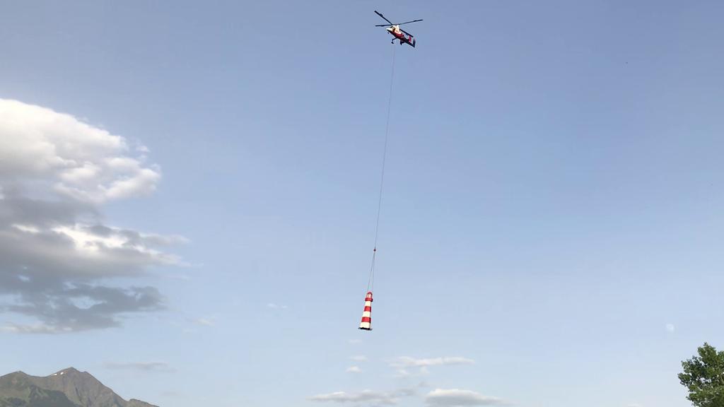 Leuchtturm schwebt über das Heidiland