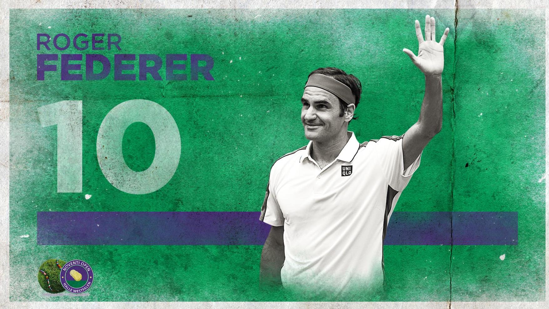Roger Federer gewinnt das Turnier in Halle